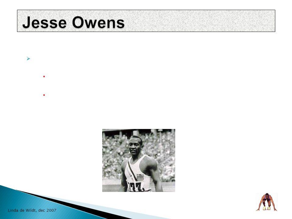  Frederick Carlton Lewis 1 juli 1961, Birmingham-Alabama  sprinten en verspringen  10 Olympische medailles waarvan 9 gouden  Sportman van de Eeuw, sportblad Sports Illustrated Olympiër van de Eeuw Linda de Wildt, dec 2007