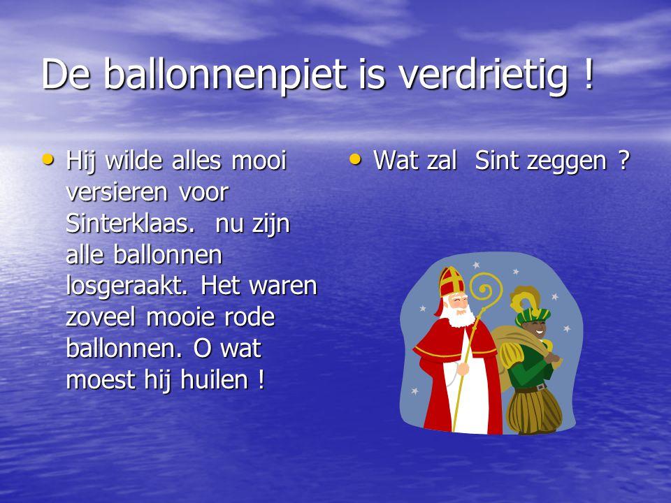 Vandaag zagen wij veel ballonnen op Toermalijn Een hele tros bij de Piet in de hal.