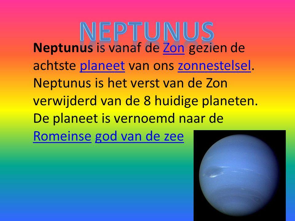 Neptunus is vanaf de Zon gezien de achtste planeet van ons zonnestelsel.