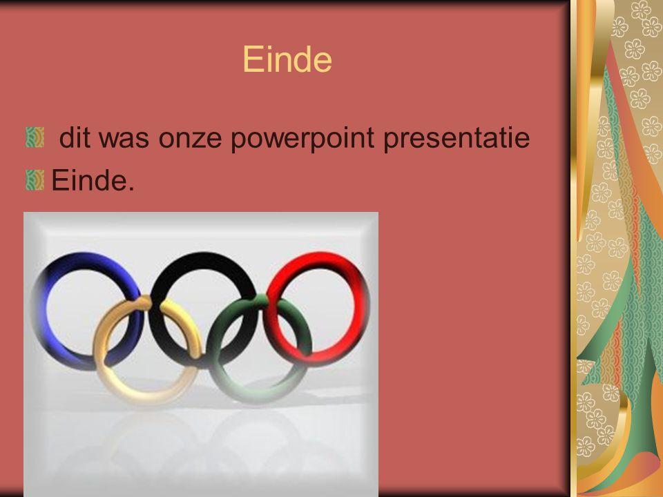 Einde dit was onze powerpoint presentatie Einde.