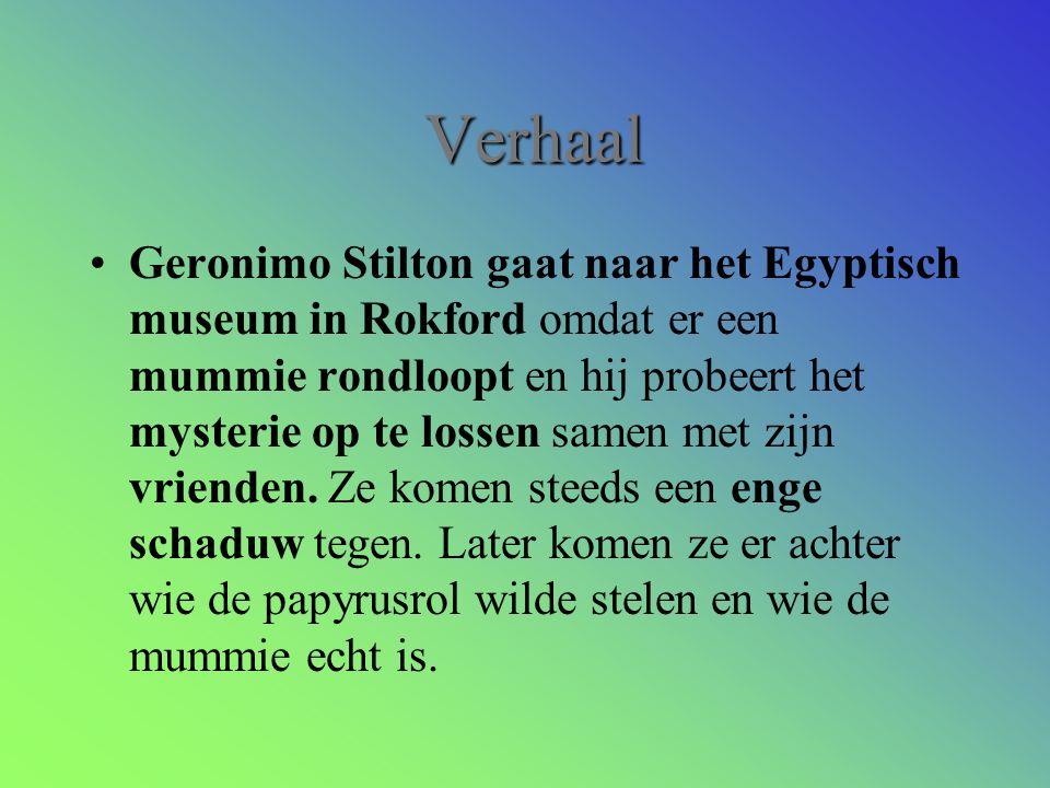 Verhaal Geronimo Stilton gaat naar het Egyptisch museum in Rokford omdat er een mummie rondloopt en hij probeert het mysterie op te lossen samen met zijn vrienden.