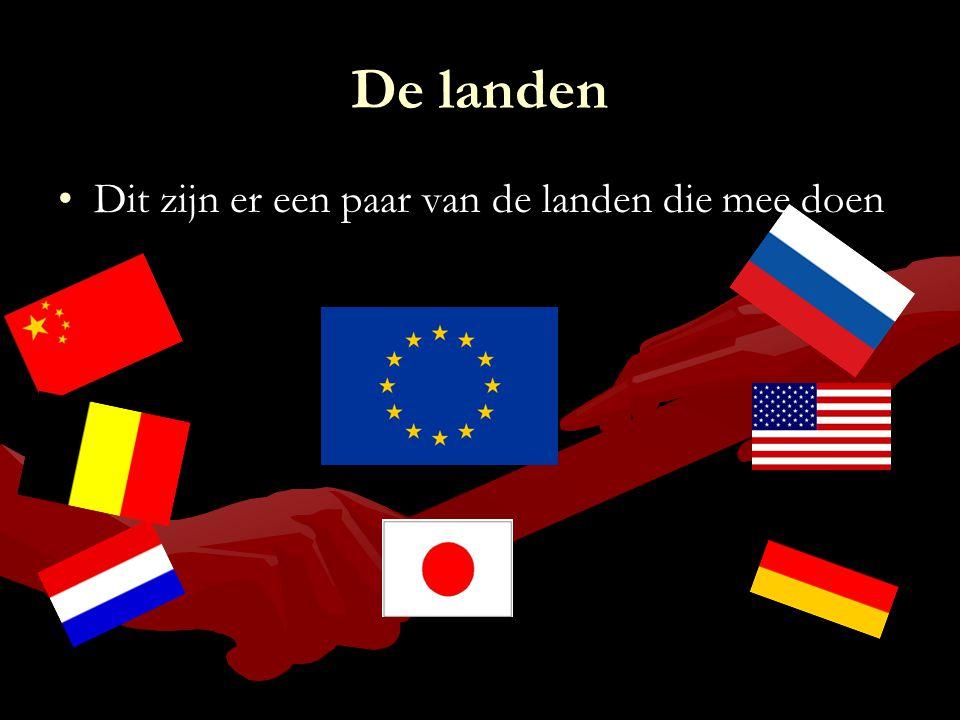 De landen Dit zijn er een paar van de landen die mee doenDit zijn er een paar van de landen die mee doen