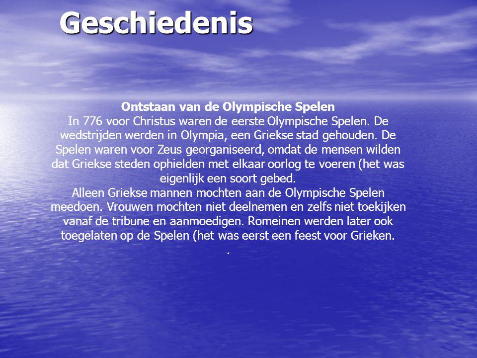 Waar werd de olympische spelen gehouden Ontstaan van de Olympische Spelen.