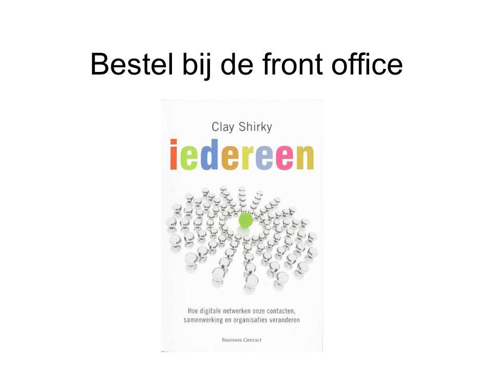 Bestel bij de front office