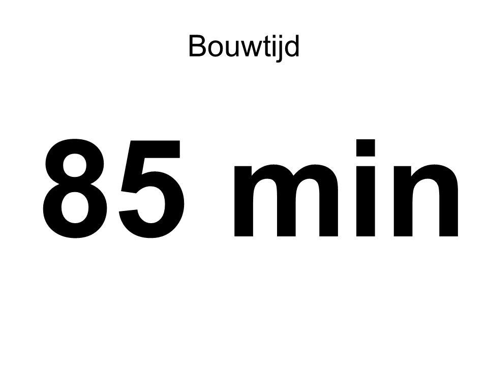 Bouwtijd 85 min