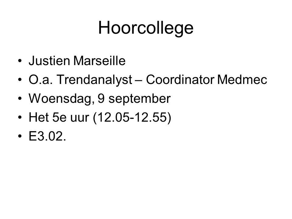 Hoorcollege Justien Marseille O.a.