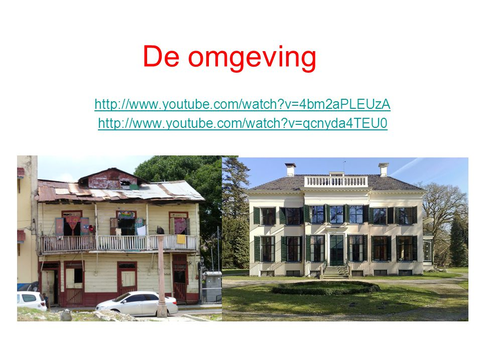 De omgeving http://www.youtube.com/watch v=4bm2aPLEUzA http://www.youtube.com/watch v=qcnyda4TEU0