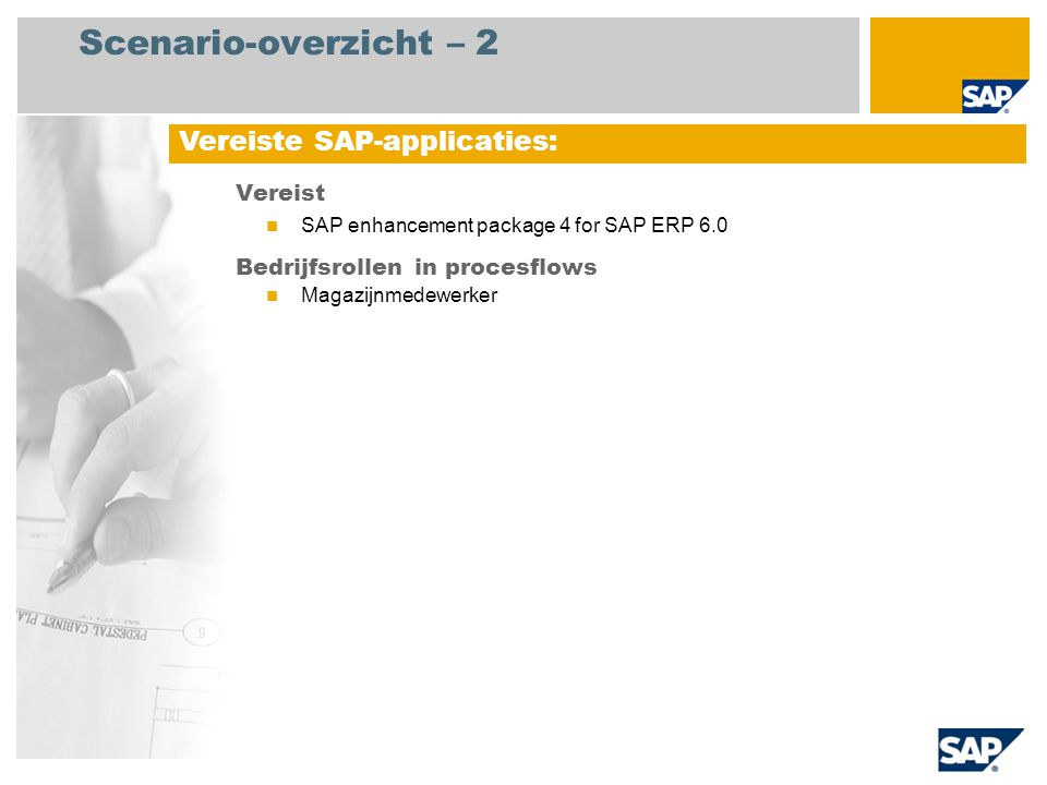 Scenario-overzicht – 3 Inventarisatie Het proces begint met het genereren van de benodigde inventarisatiebladen.