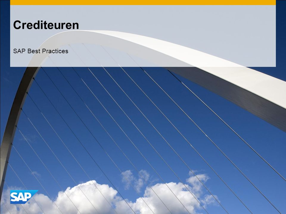 Crediteuren SAP Best Practices