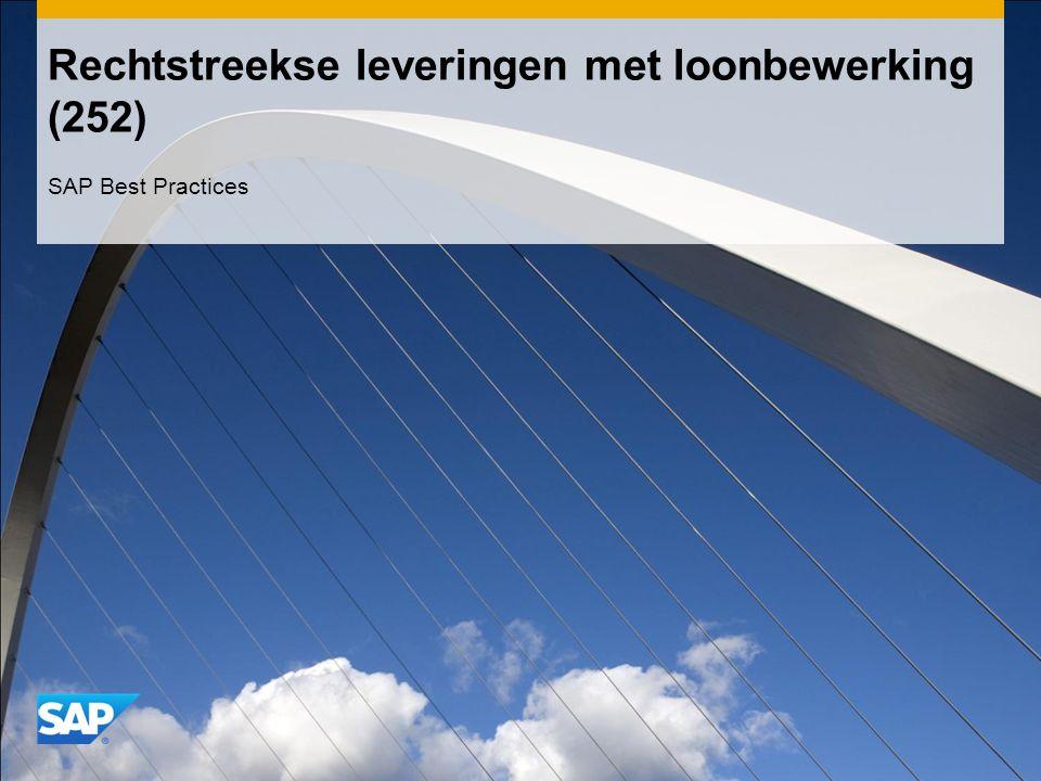 Rechtstreekse leveringen met loonbewerking (252) SAP Best Practices
