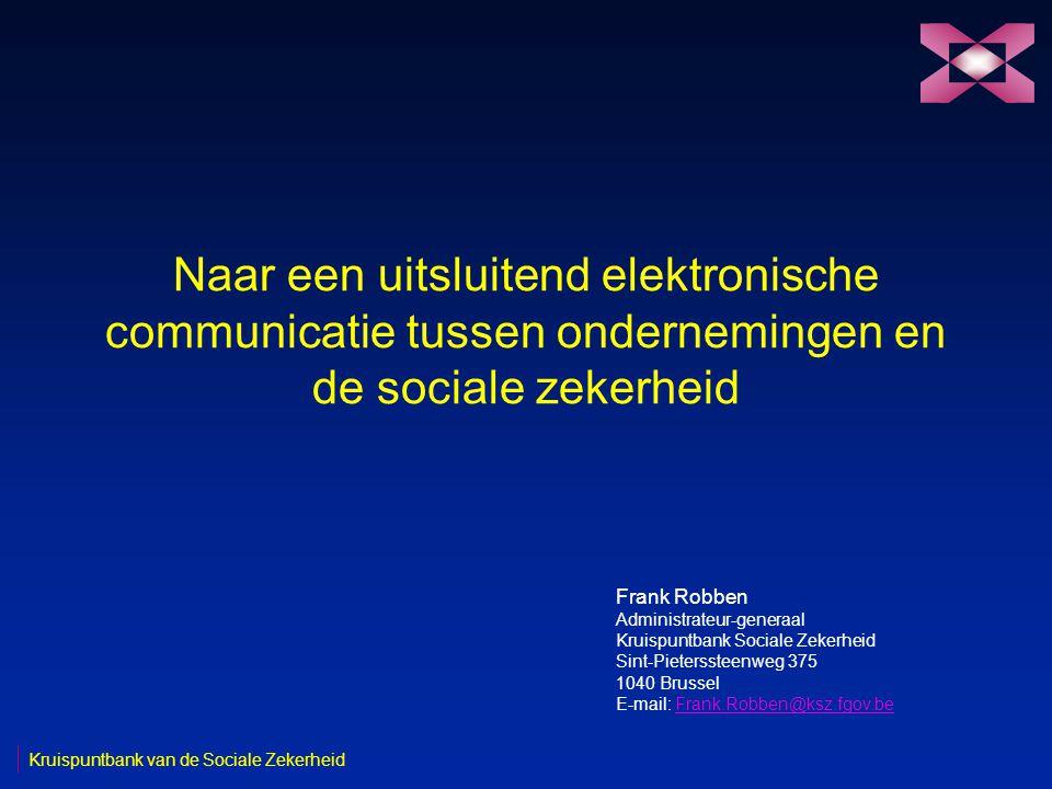 2 19/05/2003 Kruispuntbank van de Sociale Zekerheid Het netwerk van de sociale zekerheid R FW R Werkgevers FW RRR Portaal R FTP R Isabel Vocale server FW RR Backbone R R KSZ