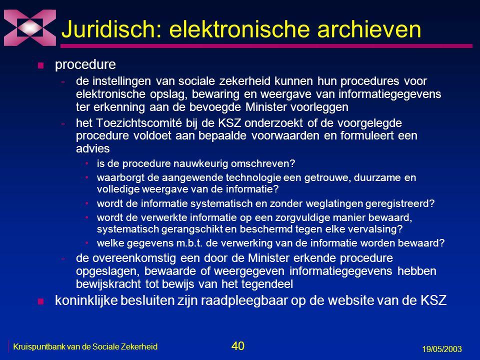 41 19/05/2003 Kruispuntbank van de Sociale Zekerheid Voor meer informatie n portaal van de sociale zekerheid -www.sociale-zekerheid.be n website Kruispuntbank van de Sociale Zekerheid -www.ksz.fgov.be n persoonlijke website -www.law.kuleuven.ac.be/icri/frobben