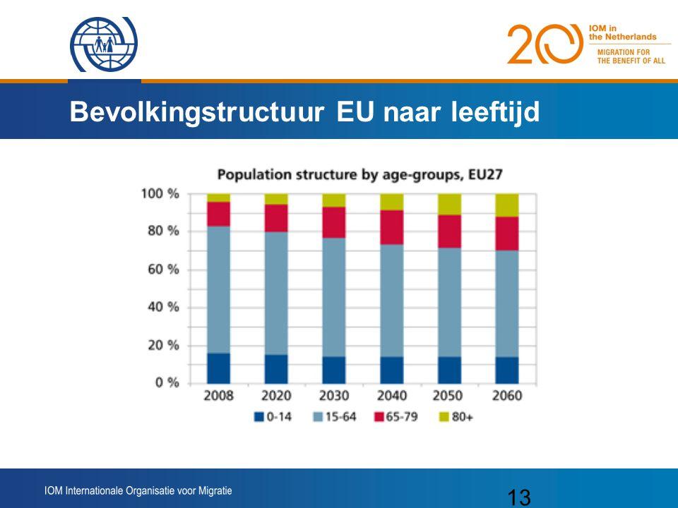 13 Bevolkingstructuur EU naar leeftijd