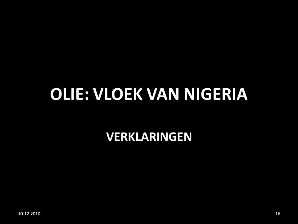 OLIE: VLOEK VAN NIGERIA VERKLARINGEN 10.12.201016