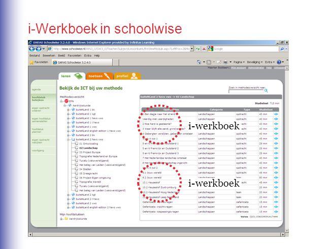i-Werkboek in schoolwise i-werkboek