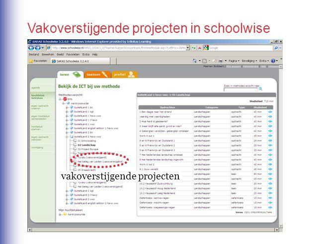 Vakoverstijgende projecten in schoolwise vakoverstijgende projecten