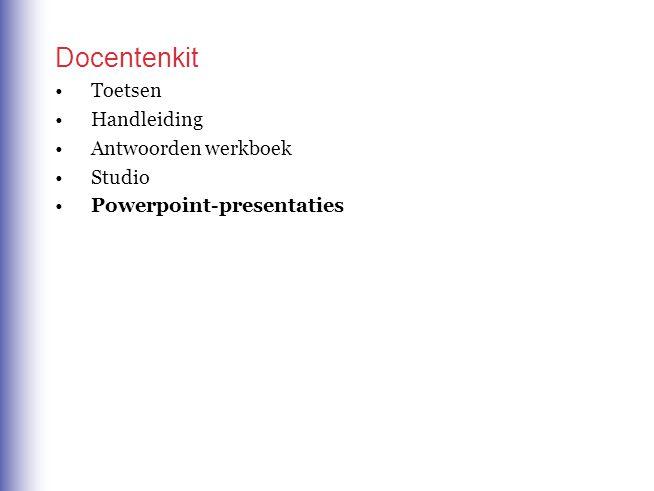 Docentenkit Toetsen Handleiding Antwoorden werkboek Studio Powerpoint-presentaties