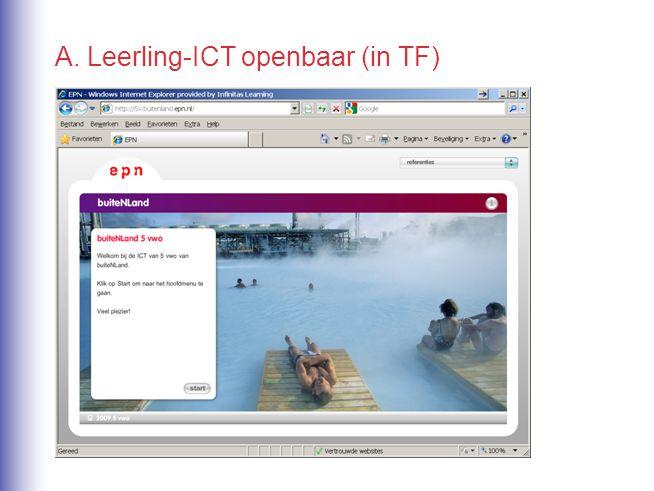 A. Leerling-ICT openbaar (in TF)