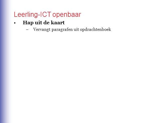 C. Leerling-ICT met account (in tweede editie OB) Draait in schoolwise