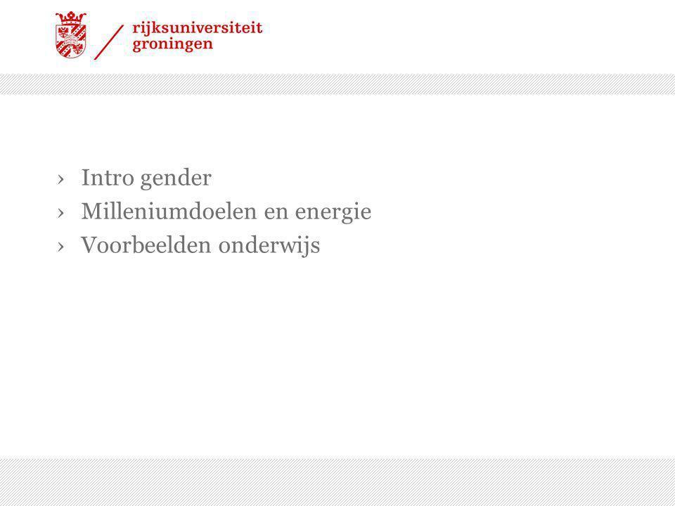 ›Intro gender ›Milleniumdoelen en energie ›Voorbeelden onderwijs