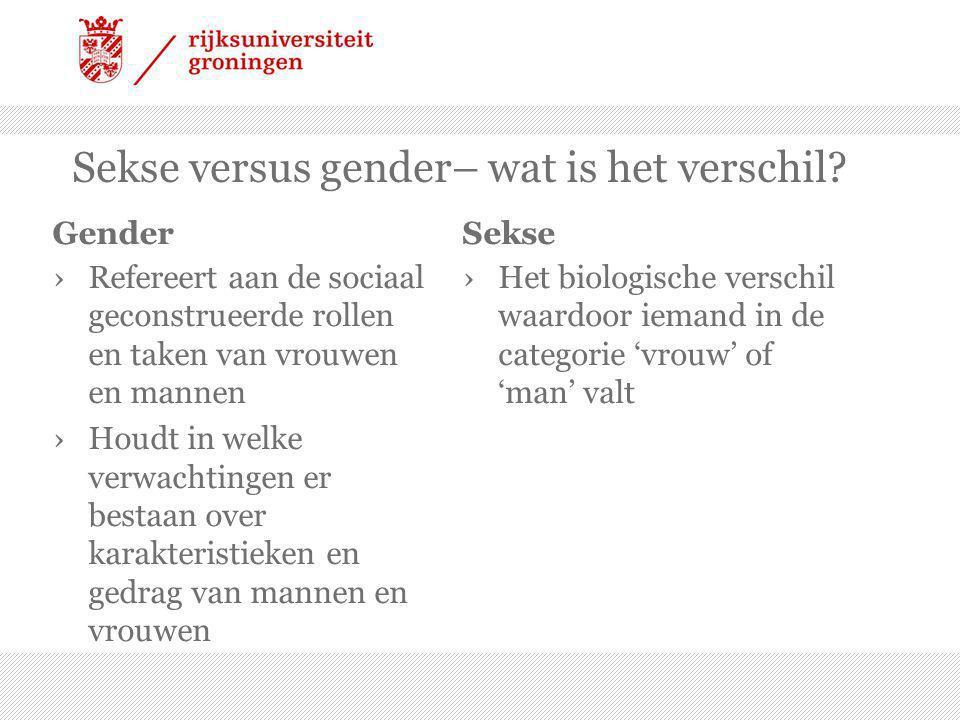 Sekse versus gender– wat is het verschil.