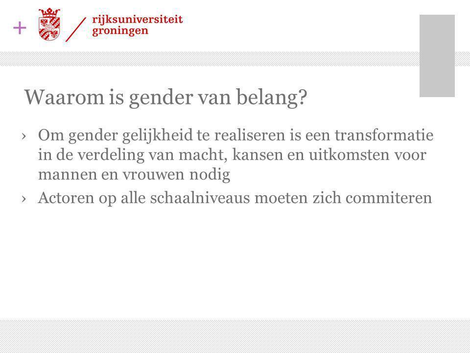 + Waarom is gender van belang.