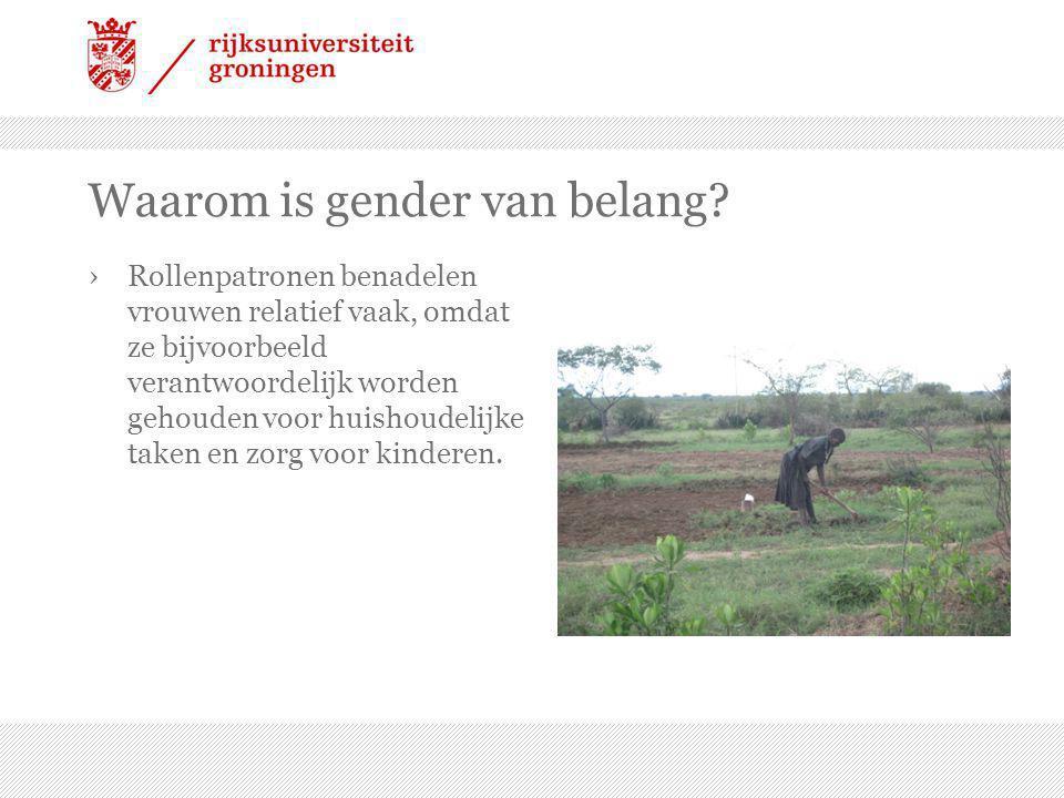 Waarom is gender van belang.