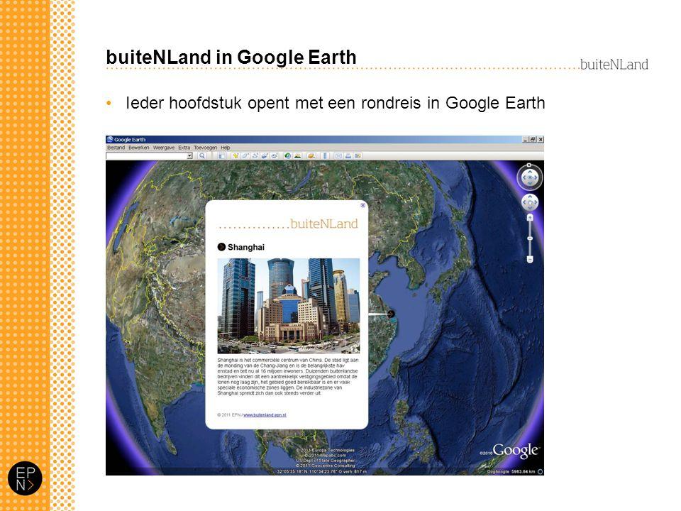 buiteNLand in Google Earth Ieder hoofdstuk opent met een rondreis in Google Earth