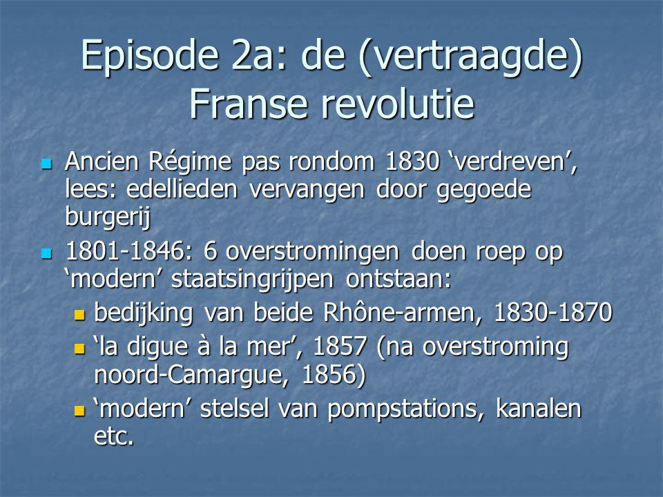 Episode 2a: de (vertraagde) Franse revolutie Ancien Régime pas rondom 1830 'verdreven', lees: edellieden vervangen door gegoede burgerij Ancien Régime
