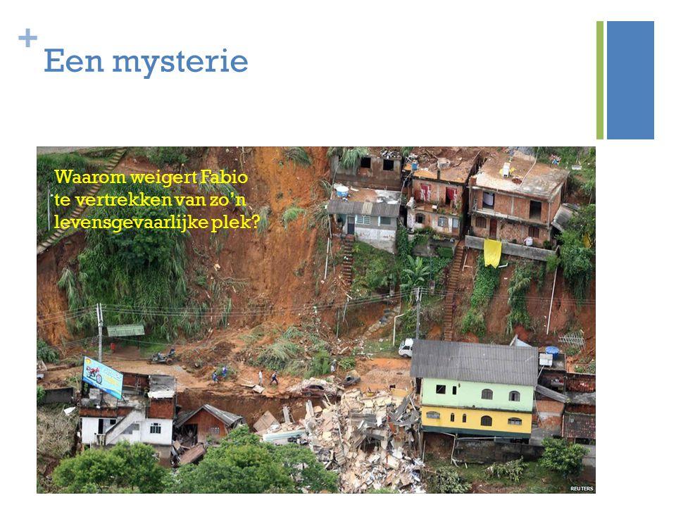 + Een mysterie I nleiding In april 2010 werd Rio de Janeiro getroffen door extreem hevige regens en werden delen van sloppenwijken verwoest door aardv