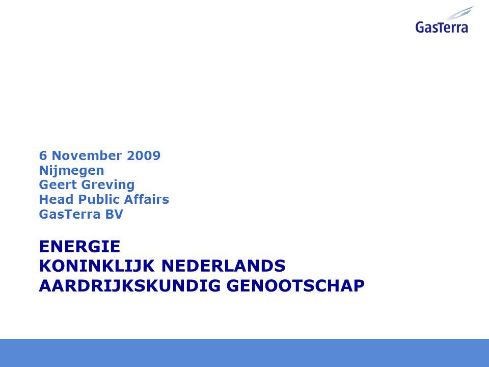 Key figures 2008 GasTerra GasTerra is the largest natural gas supplier of the European Union 40% EBN (= NOC), 25% ExxonMobil, 25% Shell, 10% Dutch State Market share in EU 15: 16% Bought volumes: Groningen field: 39,2 billion m 3 Small Dutch fields: 35,8 billion m 3 Imports: 9,1 billion m 3 Norway, Russia, Germany, UK Sold volumes Netherlands: 33,1 billion m 3 Rest of Europe: 50,9 billion m 3 Revenues: € 24 billion slide 1 GasTerra is in Groningen gevestigd en heeft 180 man in dienst.