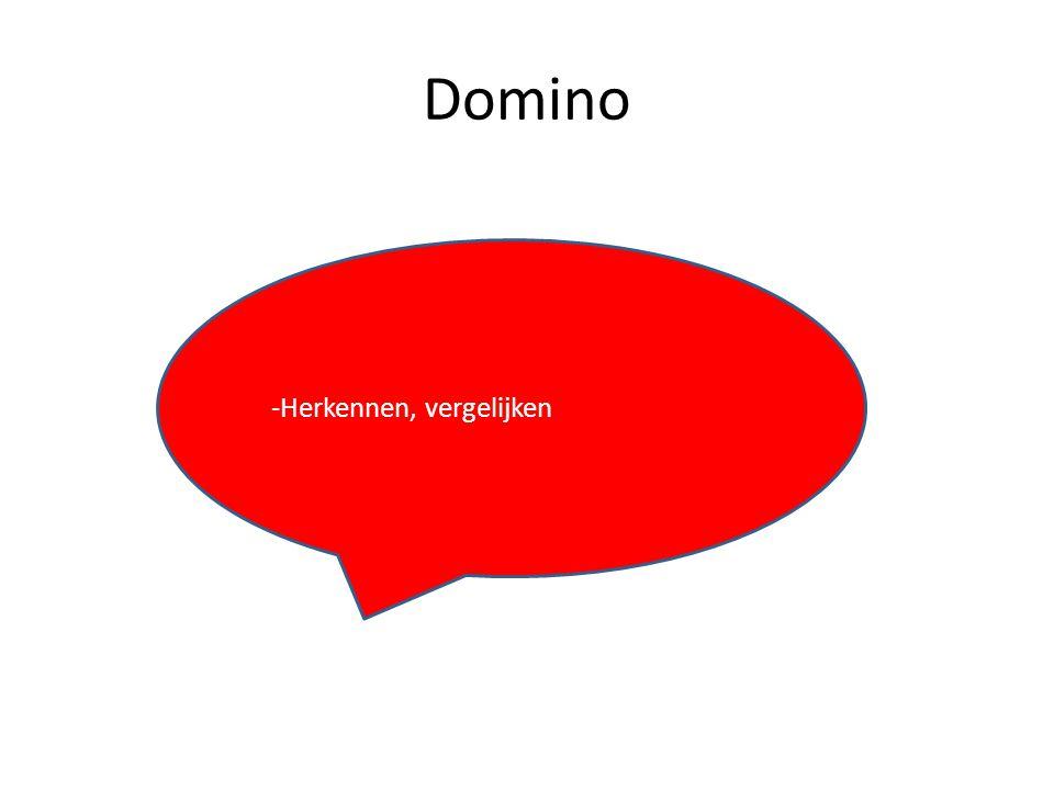 Domino -Herkennen, vergelijken