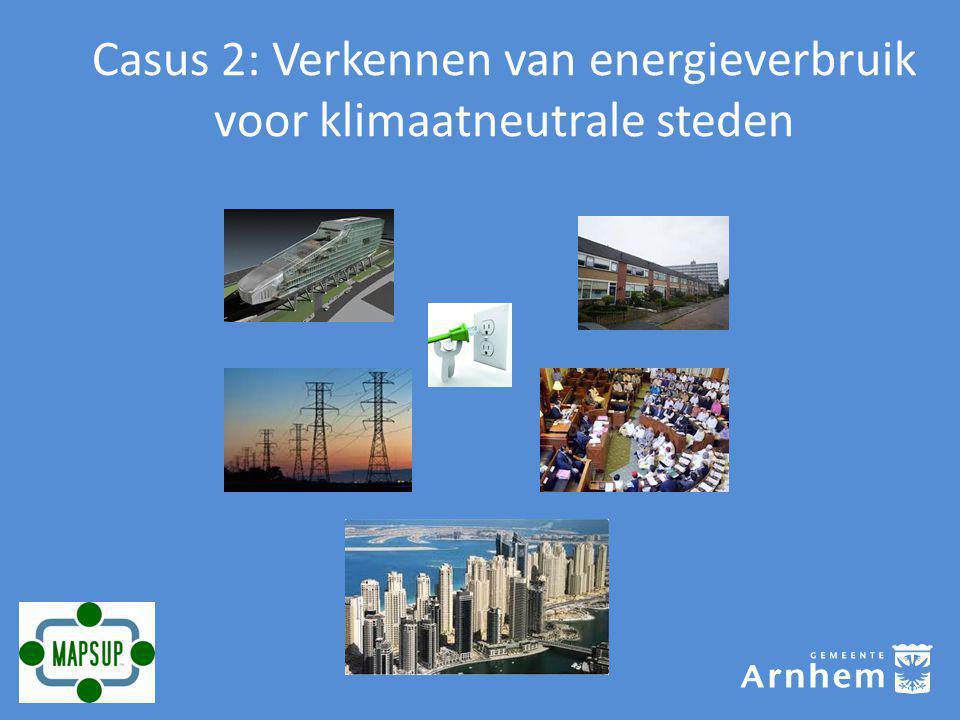 Casus 2: Verkennen van energieverbruik voor klimaatneutrale steden