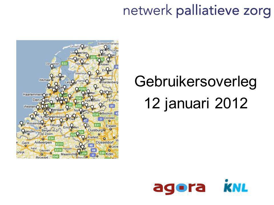 Gebruikersoverleg 12 januari 2012