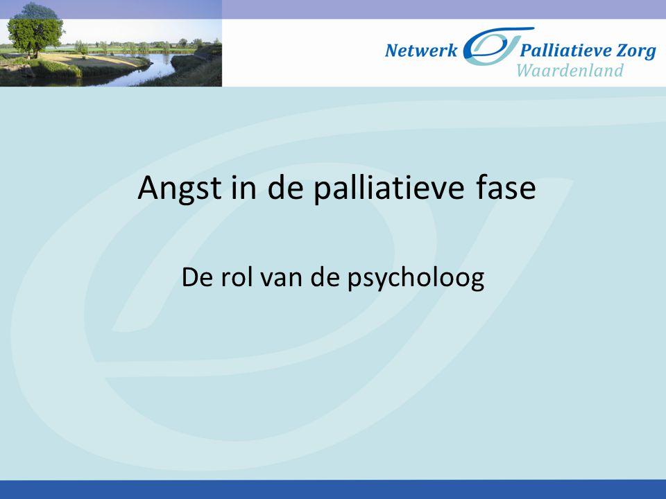 Angst in de palliatieve fase De rol van de psycholoog