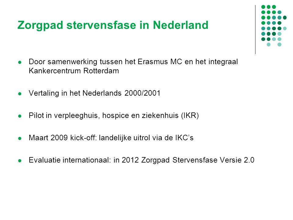 Zorgpad stervensfase in Nederland Door samenwerking tussen het Erasmus MC en het integraal Kankercentrum Rotterdam Vertaling in het Nederlands 2000/20
