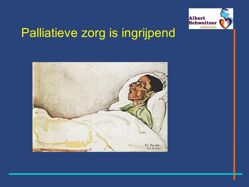 Palliatieve zorg is ingrijpend