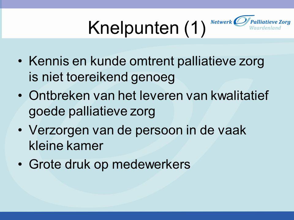 Knelpunten (2) Onvoldoende tijd voor de persoon met de verstandelijke beperking en zijn directe naasten Inzet van thuiszorgorganisaties, een crisisplaats bij ASVZ of een verpleeghuis