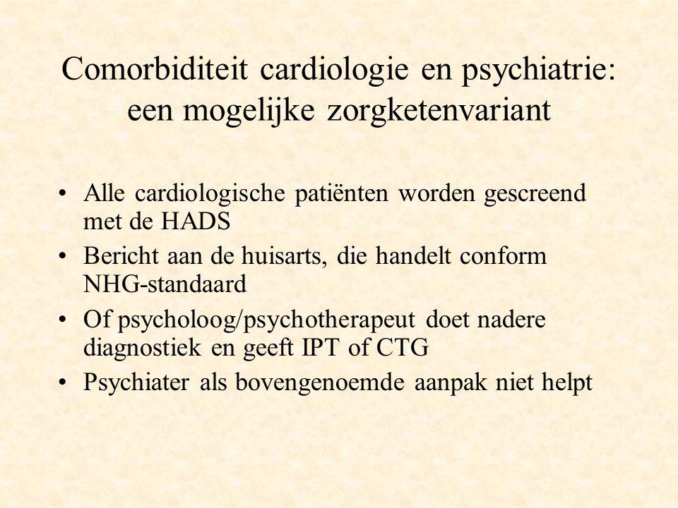 Comorbiditeit cardiologie en psychiatrie: een mogelijke zorgketenvariant Alle cardiologische patiënten worden gescreend met de HADS Bericht aan de hui