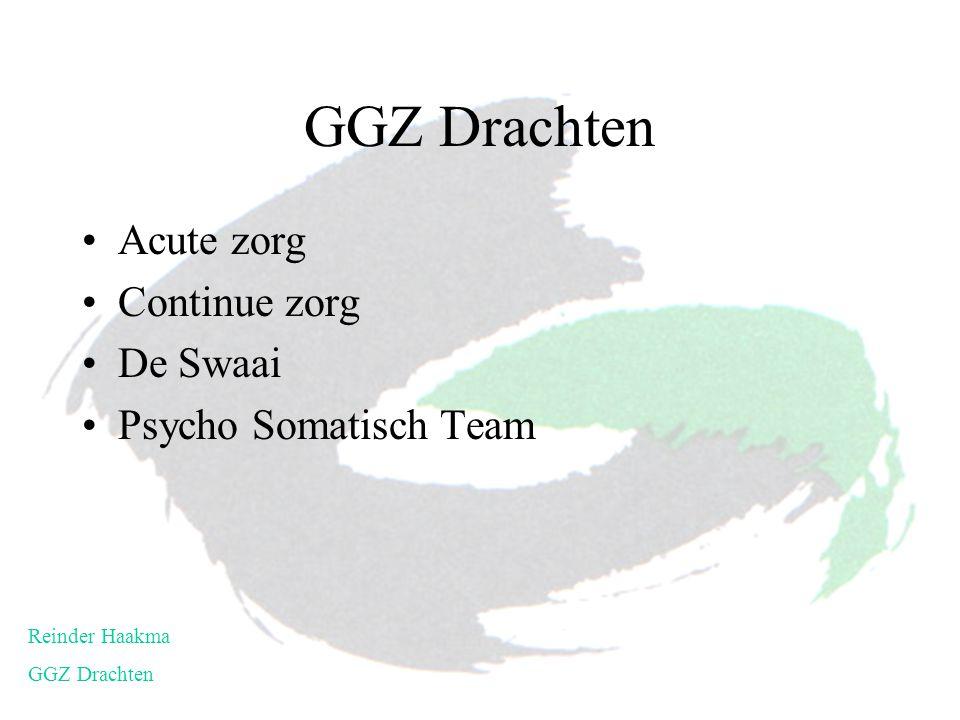 Acute zorg Continue zorg De Swaai Psycho Somatisch Team Reinder Haakma GGZ Drachten