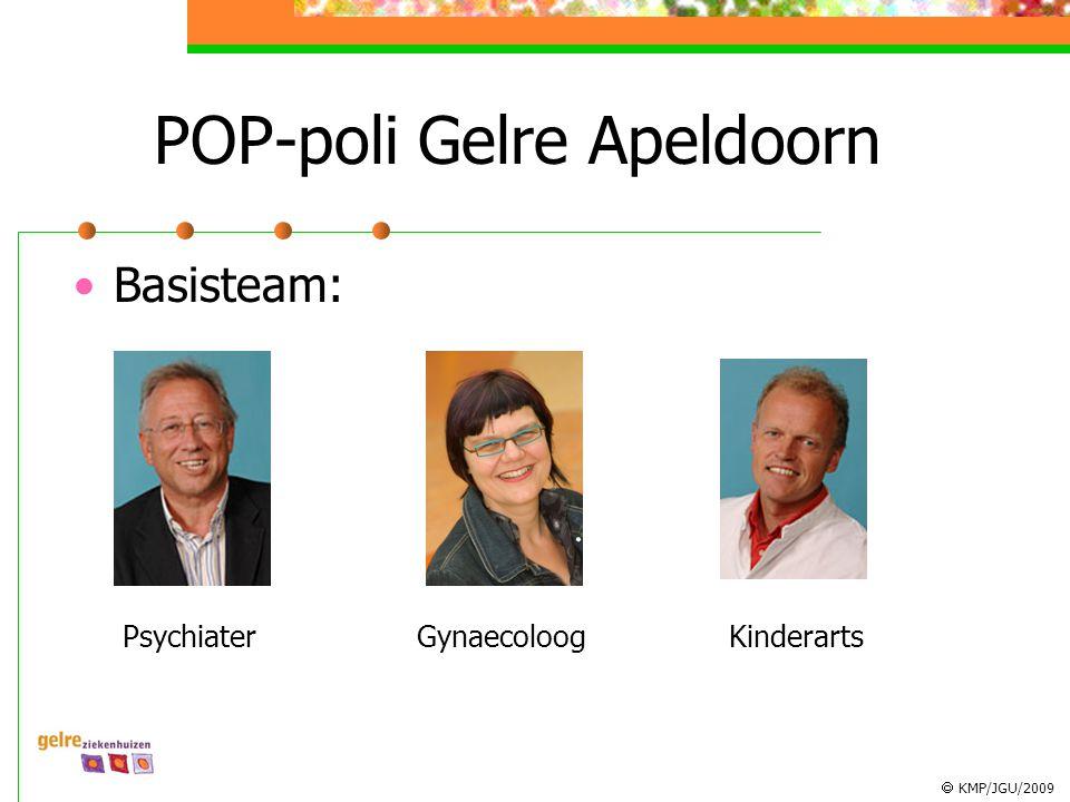  KMP/JGU/2009 POP-poli Gelre Apeldoorn Basisteam: PsychiaterGynaecoloogKinderarts