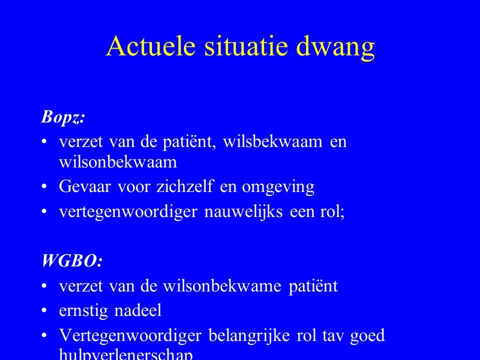 Twee hetzelfde, twee samen, twee alleen Bij Bopz patiënten geldt de WGBO ook.
