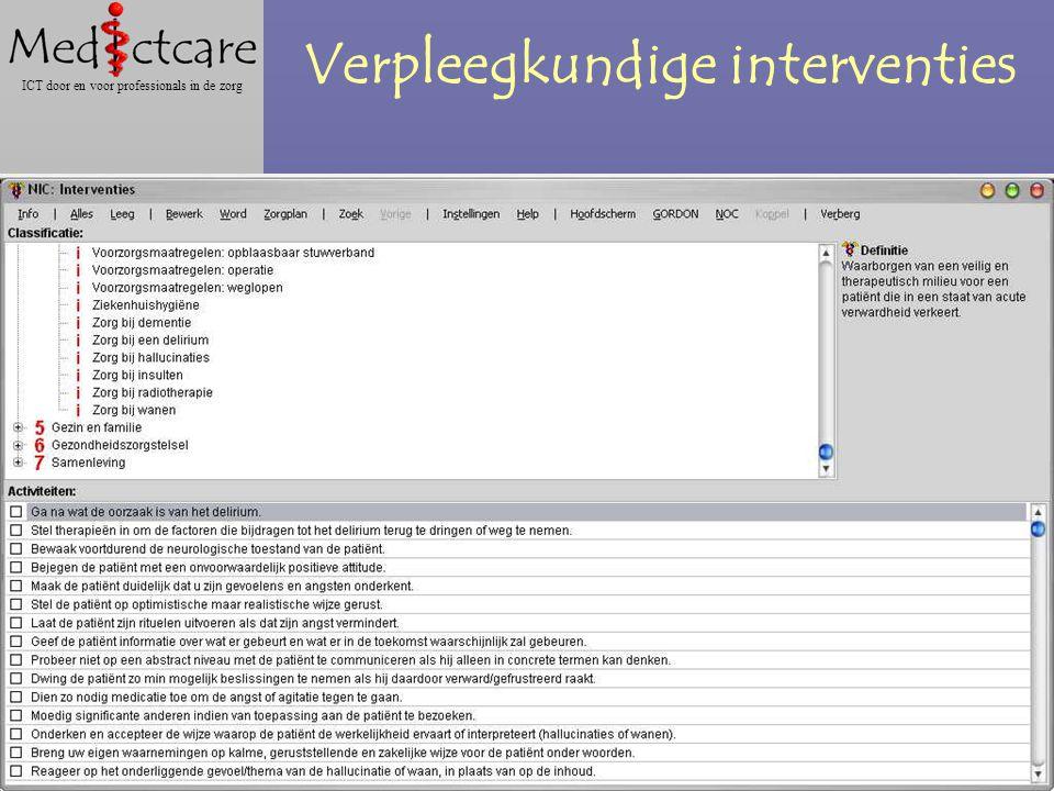 Dr. Wietse Dol Gabriël Roodbol MScN ICT door en voor professionals in de zorg Verpleegkundige interventies