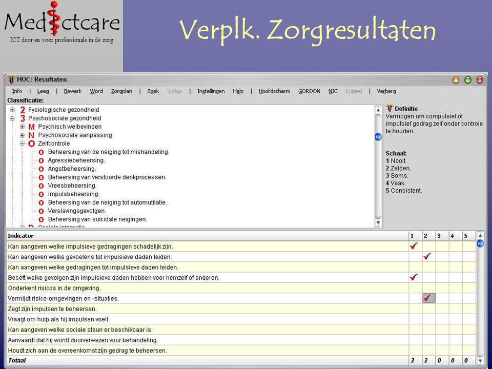 Dr. Wietse Dol Gabriël Roodbol MScN ICT door en voor professionals in de zorg Verplk. Zorgresultaten