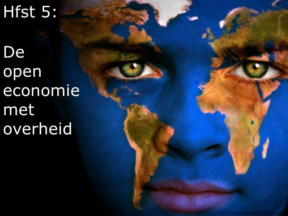 … Open economieGesloten economie Een land dat relatief veel handelt met het buitenland.