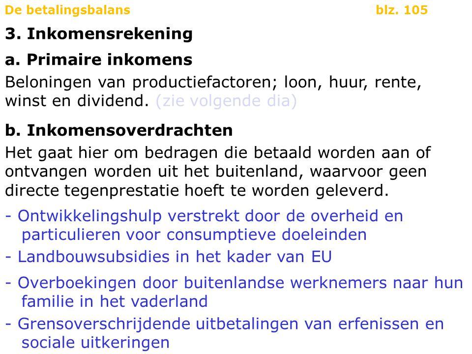 a.Primaire inkomens - Loonbetalingen aan Nederlanders die in het buitenland werken.