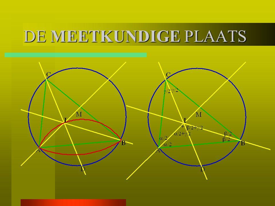 Voorbeeld De omgeschreven cirkel van driehoek ABC heeft middelpunt M.