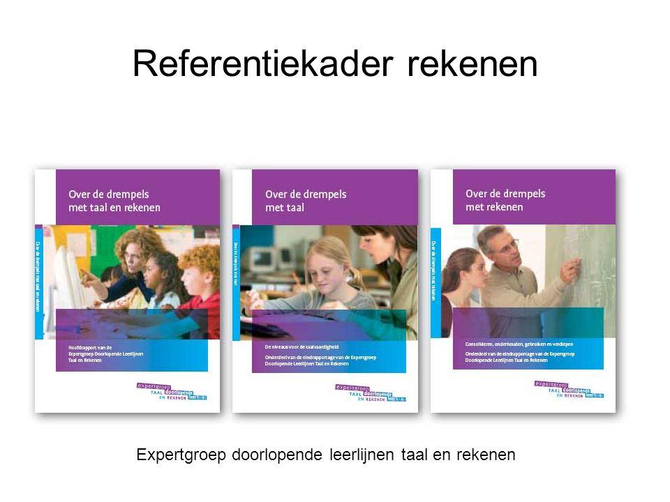 Referentiekader rekenen Expertgroep doorlopende leerlijnen taal en rekenen
