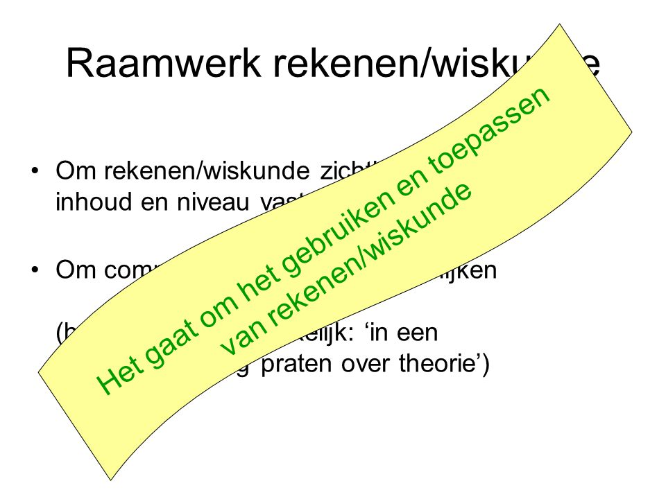 Versie 0.9 http://www.fi.uu.nl/mbo/raamwerkrekenenwiskunde/