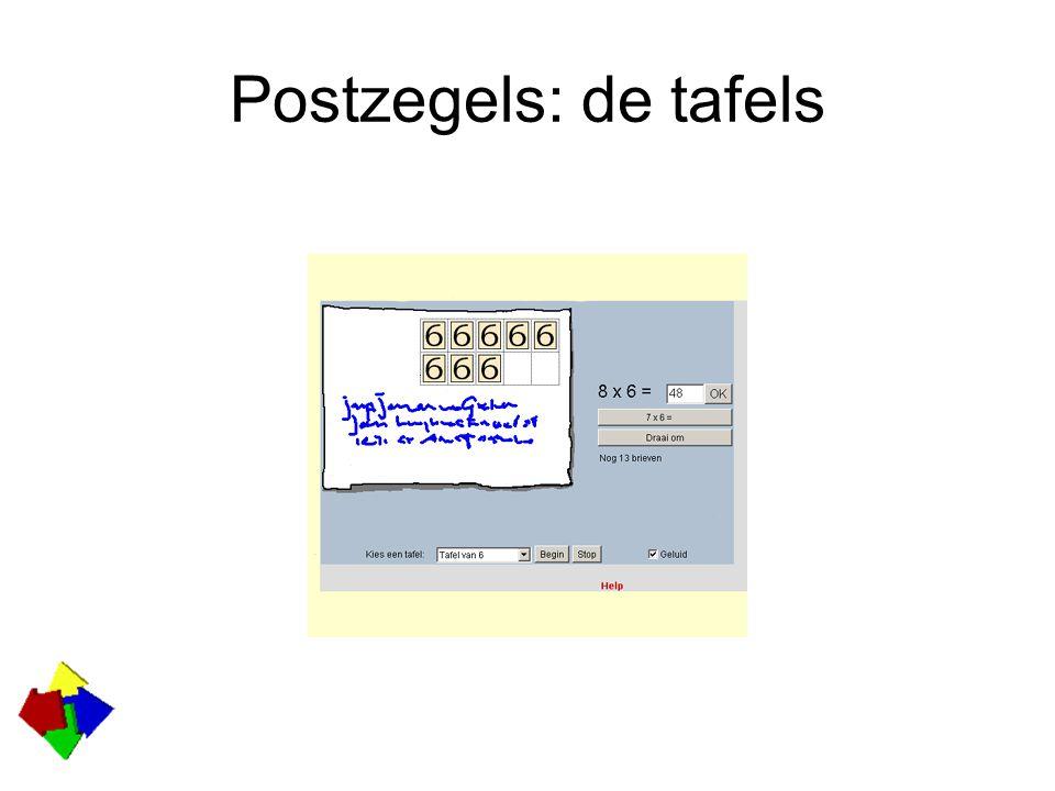 Postzegels: de tafels